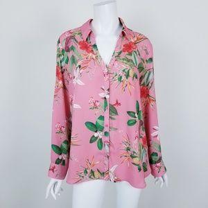 Express XL Tropical Floral Portofino Shirt